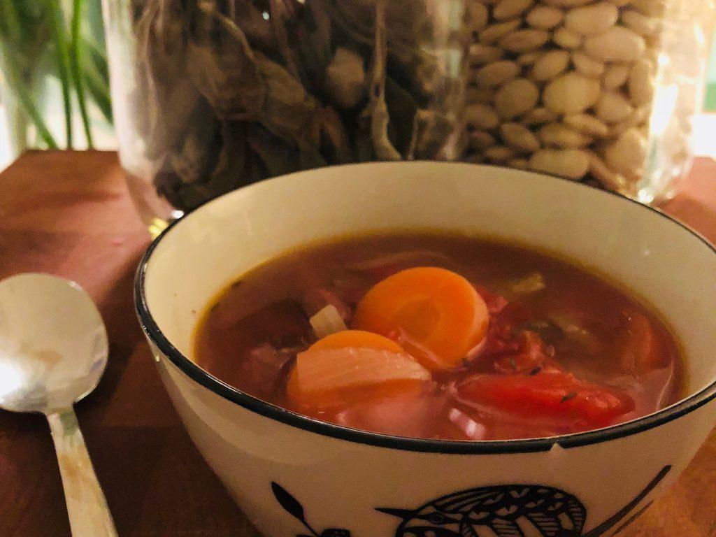 Borlotti Bean Soup from EatLiveLovefood